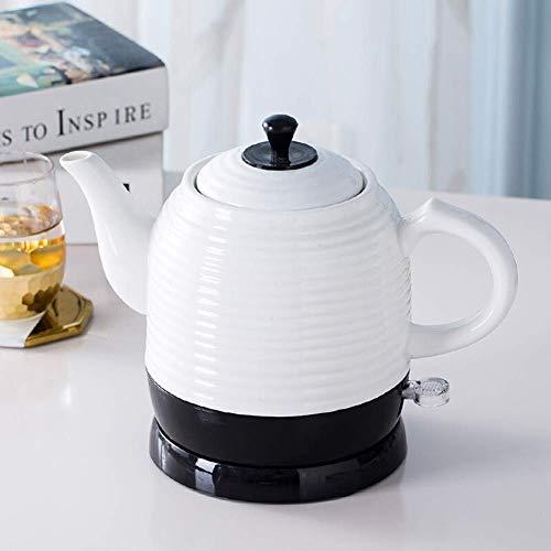 Bouilloires électriques en céramique Bouilloire sans fil Teapot-Retro Rouge 1,2 L Jug, 1350W eau rapide for thé rapide 8bayfa