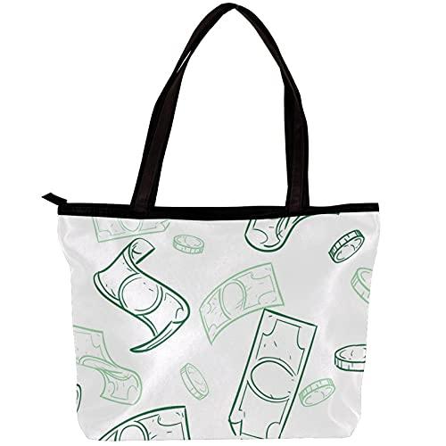 LORVIES - Bolso bandolera para mujer, diseño de dólares