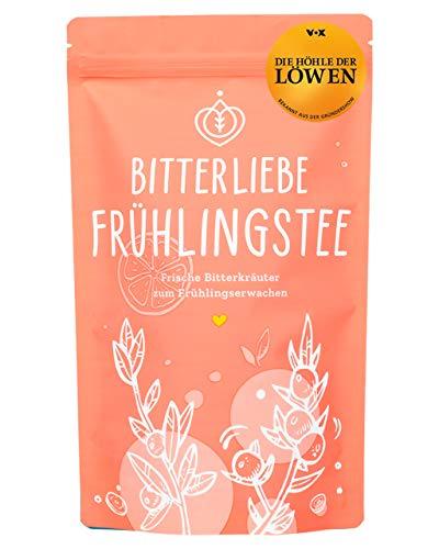 BitterLiebe® Frühlings Kräutertee lose 100g mit der Kraft der Bitterstoffe I Bitterkräuter, Erdbeere, Nanaminze, Zitronengras I ca. 60 Tassen