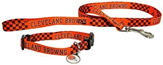Cleveland Browns 3pc Pet Set Dog Leash Collar ID Tag SMALL