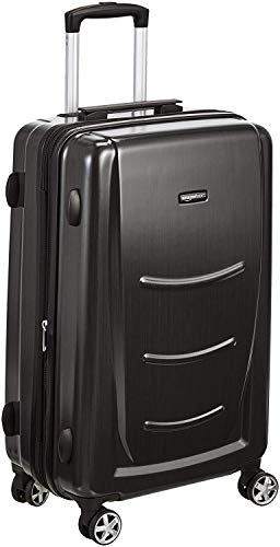 AmazonBasics Hard Shell Carry On Spinner Suitcase Luggage - 22 Inch, Slate Grey