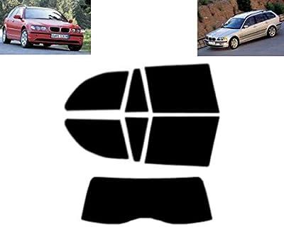Film Solaire Prédécoupé Teinté pour-BMW 3 série E46 5-Portes Break 1999-2005 Vitres Arrière & Lunette