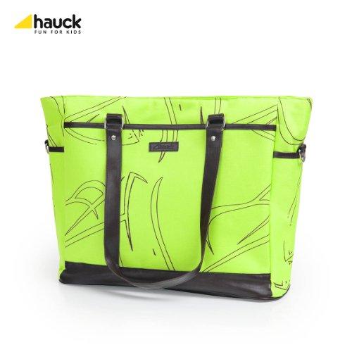 Hauck 52259 Wickeltasche Jay inklusive Wickelunterlage, Utensilientasche und Flaschenhalter, grün