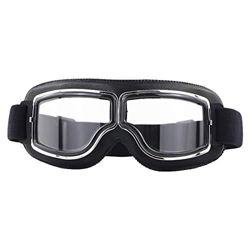 Gafas De Moto,Gafas De Motocross Motocross gafas casco piloto scooter moto al aire libre tierra bicicleta montando gafas de sol retro motocicleta gafas vintage todoterreno (Color : D)