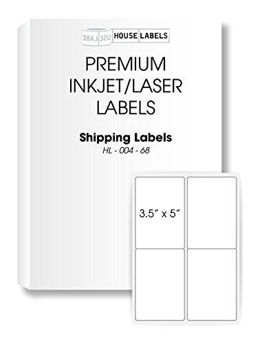 "400 Sheets; 1,600 Labels, 4-UP, Shipping Labels (3.5"" x 5"") - BPA Free!"