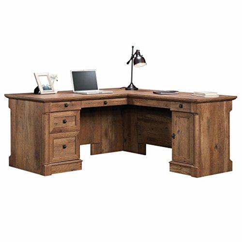 Sauder Palladia L-Shaped Desk, Vintage Oak finish