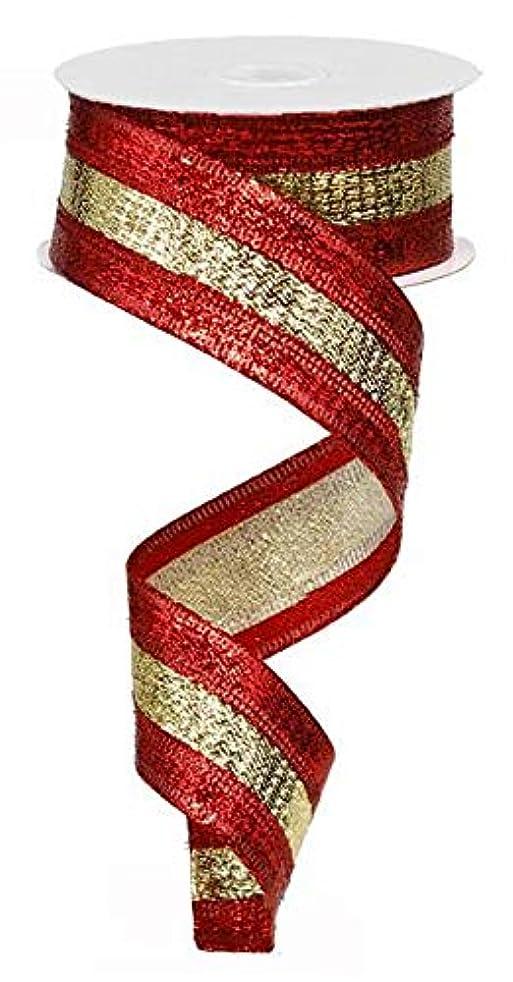 Metallic 3 in 1 Wired Edge Ribbon,1.5