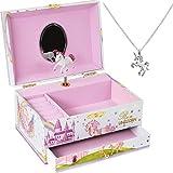 ShameOnJane Unicorn Jewelry Box and Girls Jewelry Box - Music Box...