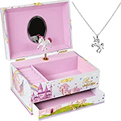 ❤️She Will Love it: Her eyes will light up when she opens her new beautiful musical jewelry box. Your neice, daughter or granddaughter will always remember her first jewelry box as her favorite gift and she will treasure it as she grows. ❤️Long Lasti...