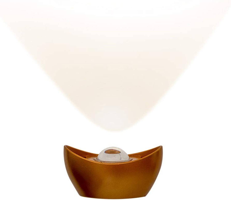 10W Lámpara de parojo LED de aluminio moderna Sala de estar Dormitorio Pasillo Pasillo Luz Decoración del hogar Iluminación Iluminación de parojo, 17x9x10cm, luz blancoa cálida