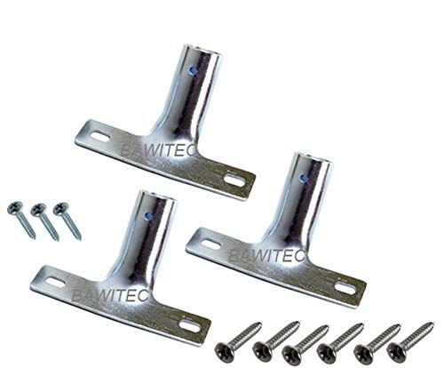 3x BawiTec Metallstielhalter Set 28mm Metall-Stielhalter Besen Besenstiel