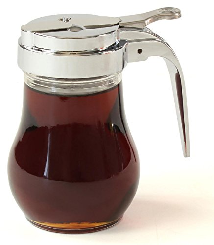 Sale!! Displays2go 6-Ounce Classic Diner Style Syrup Dispenser, 2-3/4 by 4 by 4-Inch, Set of 12