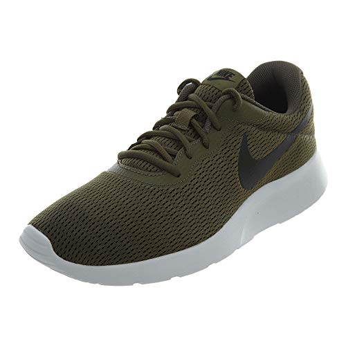 Nike Mens Tanjun Medium Running Sneakers Olive/Black 812654-200 (9.5 D(M) US)