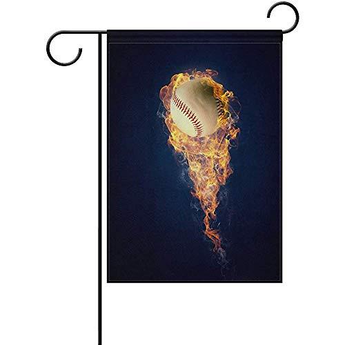 Archiba Ball-brennendes Feuer-Garten-Flaggen-Fahne 12 x 18 Zoll-dekorative Garten-Flagge für die Rasen- und Gartenhauptdekoration im Freien doppelseitig
