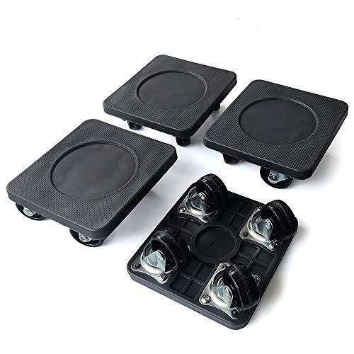 genneric 5 PC-Set aus Kunststoff Mover Thick Gewicht Handlingsgeräte bewegen Mat Möbelverstellsysteme Pad Slider Glider-System-Hebewerkzeug Crowbar (Schwarz) (Size : B)