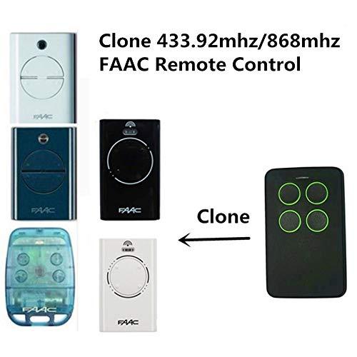 Calvas FAAC XT2 SLH LR7870071 - Mando a distancia (433,92 MHz, XT2 XT4, transmisor de 2 canales, compatible con cochera/puerta...