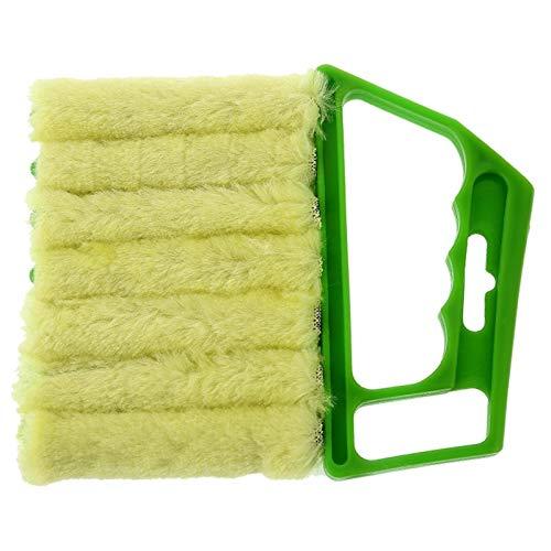 ZNQPLF Limpiador De Polvo Herramienta De Limpiador Útil De Microfibra Lavable Veneciano Limpieza De La Cuchilla Cepillo De Limpieza (Color : 1PC Green)