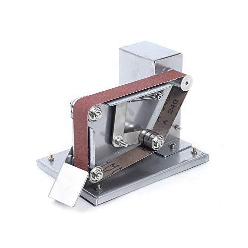 AC110-240V Elektrobandschleifer Schleifmaschine Poliermaschine Schleifband Schleifer Elektro-Bandschleifer Mini DIY Polieren Schleifen Silber Maschine Klei 4500-9000RPM