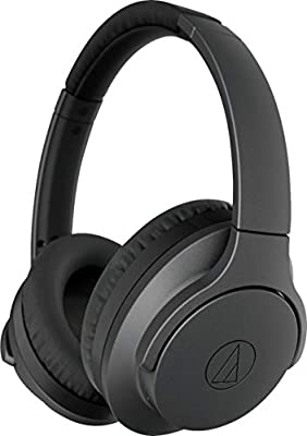 Audio Technica ATH-ANC700BTBK Bluetooth QuietPoint Active NoiseCancelling Over-Ear Headphones Black