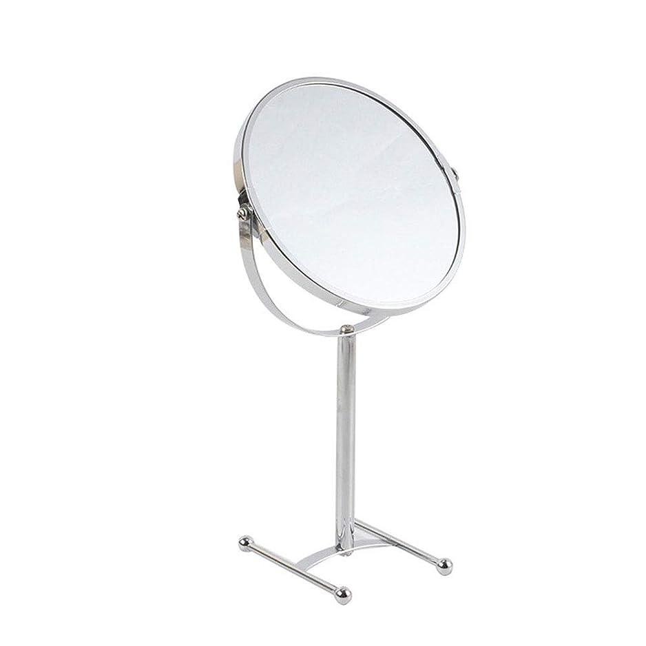 ナイロンコック付けるデスクトップ両面化粧鏡678インチメタルH型オーバーヘッドミラーバスルームビューティードレッシングミラー