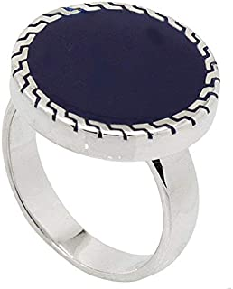 Sterling Silver Ring Malaki with Blue Stone for Men by ATIQ