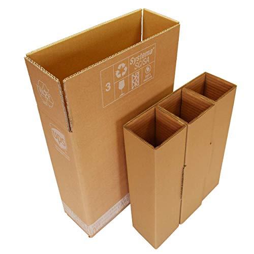 Flaschenversandkarton 3 Flaschen Weinkarton inkl. Einlagen Wein Sekt PTZ DHL zertifiziert UPS Flaschenkarton Weinversandkarton Hermes DPD Systema Cargo (5)