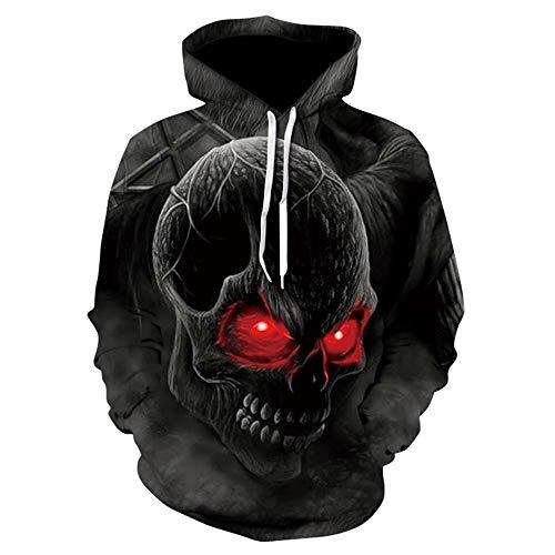 Reihe 3D - Hoodies für Frauen und männer Pullover mit Langen ärmeln Sweatshirt 3D - Hoody mit Totenkopf - Design,m