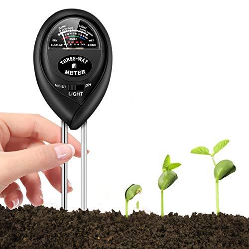 Soil test kit, soil tester for moisture, light & ph meter for plant,...