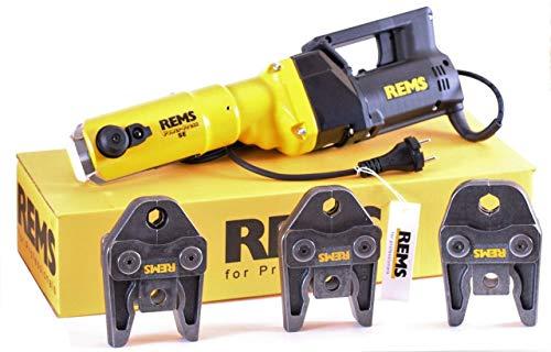 REMS Pressmaschine Power Press SE + 3 Pressbacken Presszangen M oder V Auswahl