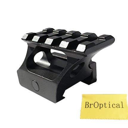 Broptical 20mmレール対応 ハイマウント マウントベース 45角度斜め 増高マウントベース