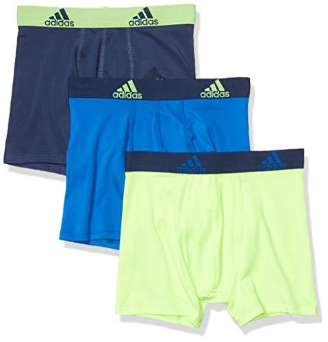 adidas Youth Kids-Boy's Performance Boxer Briefs Underwear (3-Pack)