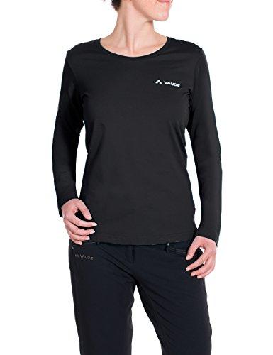 VAUDE Brand Longsleeve Shirt à Manches Longues Femme, Black, FR : 2XL (Taille Fabricant : 46)