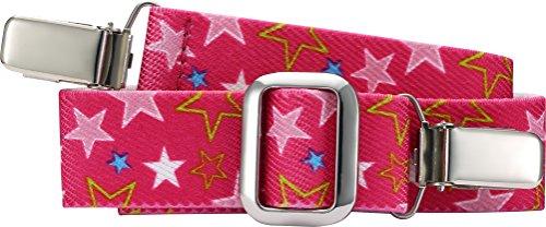 Playshoes Unisex Gürtel mit Clips, Sterne, elastisch,Rosa (pink 18), 116-140