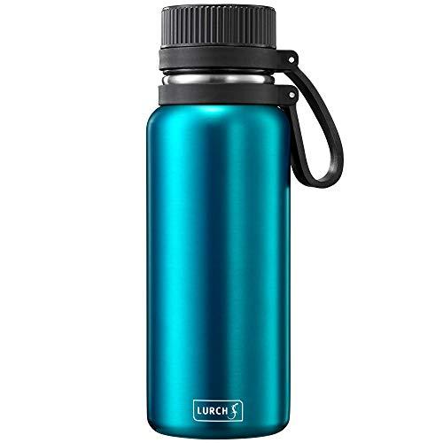 Lurch 240972 Outdoor Isolierflasche / Thermoflasche für heiße und kalte Getränke aus doppelwandigem Edelstahl 0,5l, Ocean Blue
