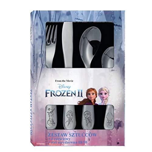 Dajar Kinder-Besteck 4 Teiliges Besteck-Set (Frozen Teil 2)
