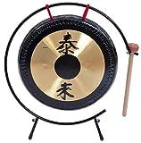 Betzold Musik 84316 - Tisch-Gong mit Metall-Stativ - Oberfläche: 25