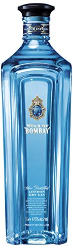 Bombay Star Of Saphire London Dry Gin 1 L, 47,5%