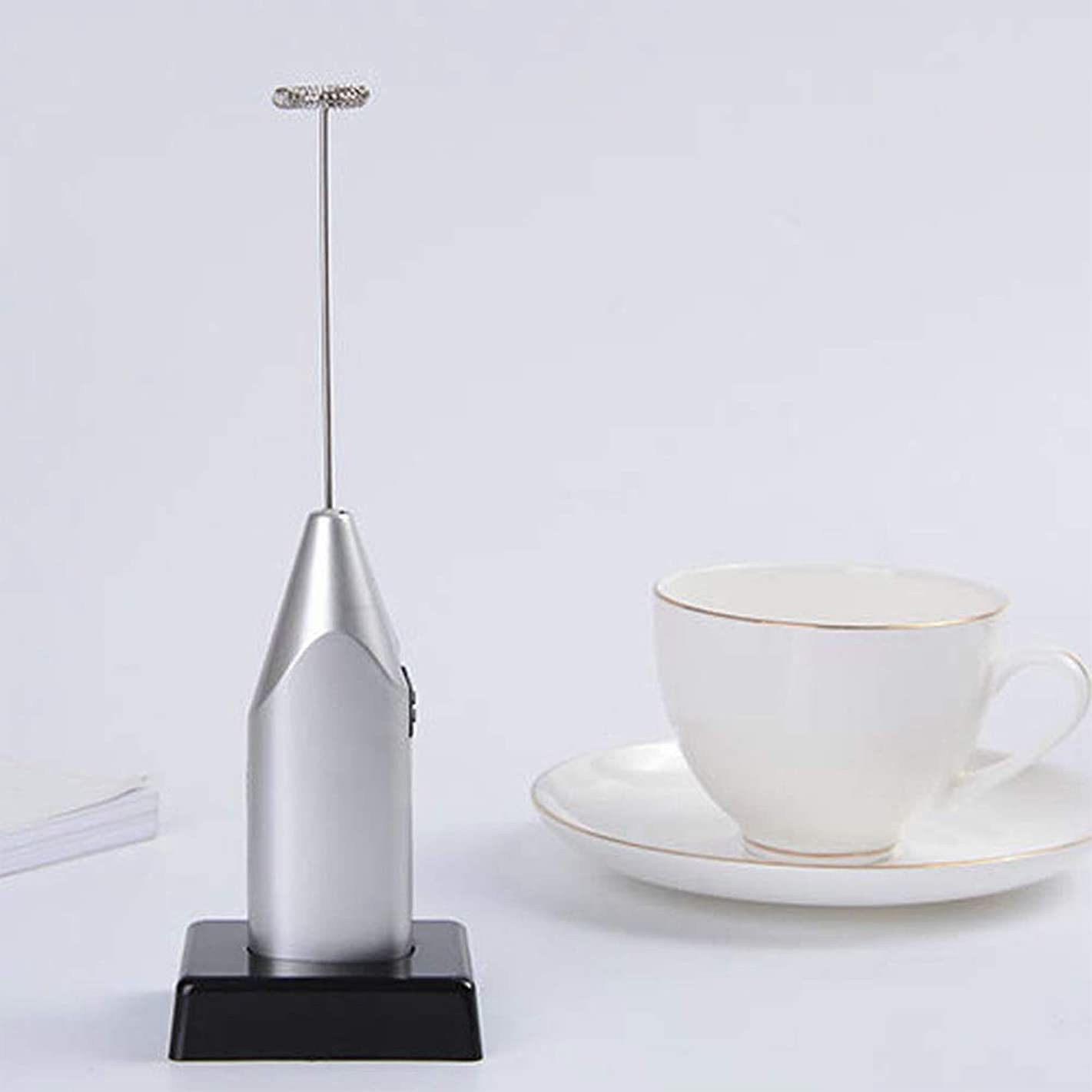 Electric Milk Frother Mixer Mini Egg Whisk Portable Handheld Foam Maker Battery Operated Milk Egg Beater Foamer Whisk Stirrer Beater Kitchen Tools