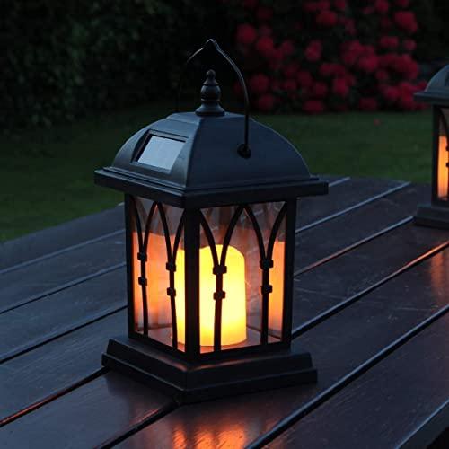 Festive Lights schwarze mit LED Kerze und Bild