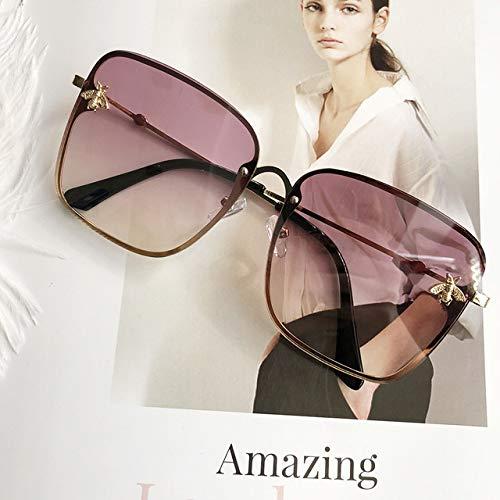 Yangjing-hl Gafas de Sol cuadradas Unisex para Mujer Gafas de Sol de Marca de diseñador Gafas de Sol Grandes Gafas de Sol de gradiente de Moda Mujer