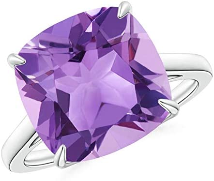 Classic Solitaire Cushion Amethyst Ring Large discharge sale Free shipping Cocktail 12mm