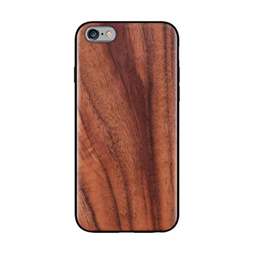 iATO iPhone 6s Plus / 6 Plus Case Wood Grain. Unique & Classy Real Walnut Wood iPhone 6s Plus / 6 Plus Case {Fully Protective Shockproof Bumper & Raised Lips Face Down Screen Protection} iPhone 6s+ 6+