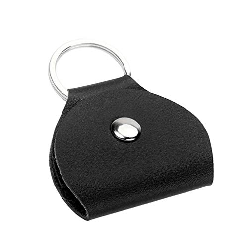 Healifty Leder Plektrum Halter Schlüsselanhänger Keychain Plektrenhalter Ledergitarren Plektrum Tasche für elektrische Bassgitarren