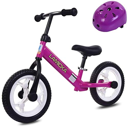 Twakom - Bicicleta infantil de 12 pulgadas con casco de color aleatorio, manillar ajustable y asiento para niños de 2 a 6 años