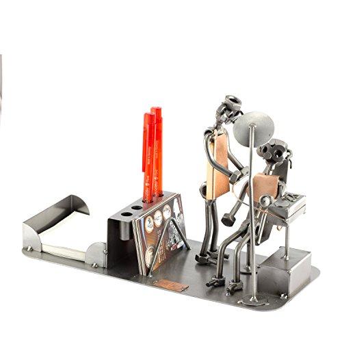 Steelman24 I Organizador De Sobremesa Dentista I Made in Germany I Idea para Regalo I Figura de metalo