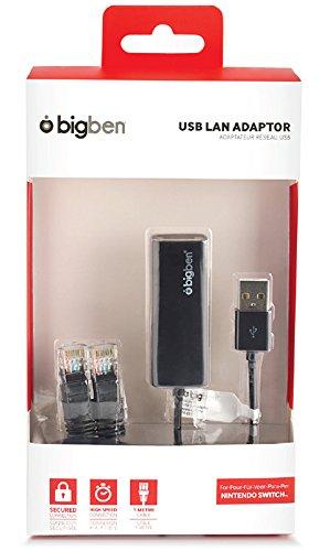 BigBen Interactive - Adaptador Y Cable De Red USB (Nintendo