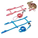 PerSuper - 2 Pack Pet Rabbit Harness Leash for Soft Nylon,Running,Walking Jogging Harness Leash with Safe Bell for Bunny, Cat, Kitten,Ferret, Puppy and Other Small Pet Animals