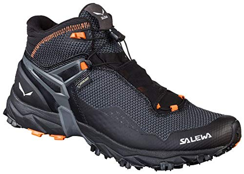 Salewa Men's Ultra Flex Mid GTX Mountain Training Shoe, Black/Holland, 13 D(M) US
