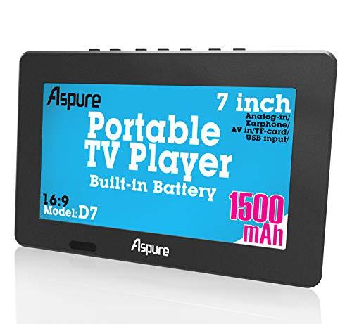 7 Inch portátil pequeño LED TV Digital...