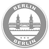 Impresionantes pegatinas de vinilo (juego de 2) 7,5 cm (bw) – Sellos de Berlín Alemania para portátiles, tabletas, equipaje, libros de chatarra, frigorífico, regalo genial #41905.